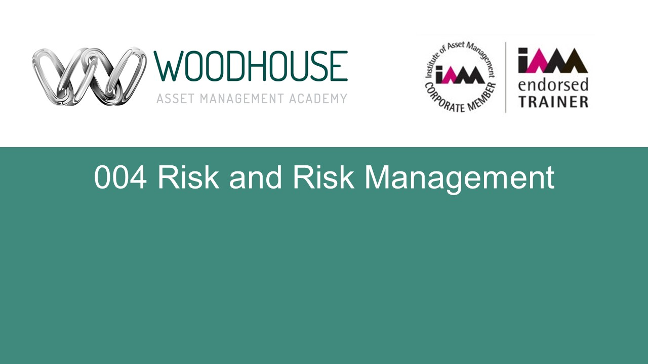 W004 Risk and Risk Management