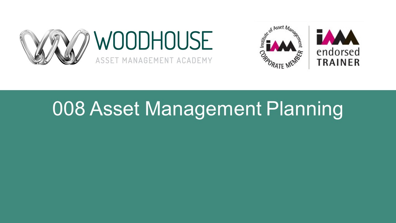 W008 Asset Management Planning